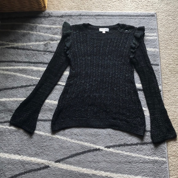 Knox rose sparkly black sweater Xs